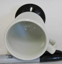 Hall 1272 ~ White & Black Pedestal Coffee Cup Mug ~ Made In U.S.A. image 2
