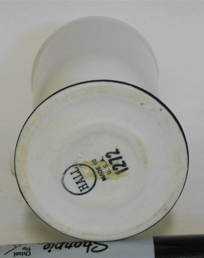 Hall 1272 ~ White & Black Pedestal Coffee Cup Mug ~ Made In U.S.A. image 3