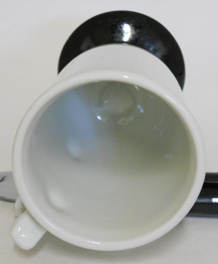 Hall 1272 ~ White & Black Pedestal Coffee Cup Mug ~ Made In U.S.A. image 4