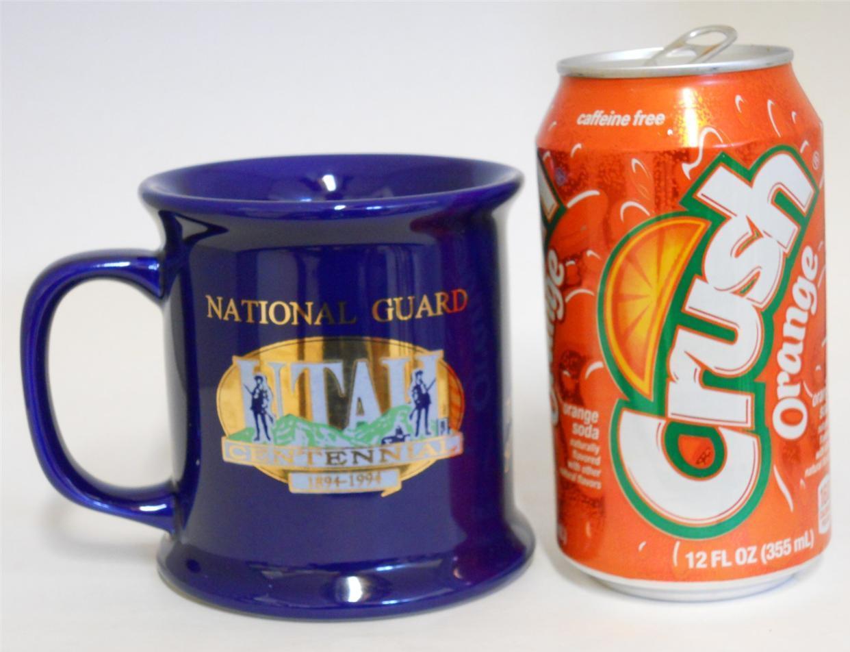 The Great Seal Of Utah ~ National Guard Utah Centennial ~ Cobalt Blue Cup Mug image 2