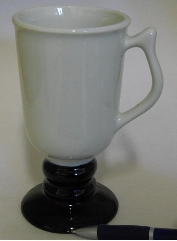 Hall 1272 ~ White & Black Pedestal Coffee Cup Mug ~ Made In U.S.A. image 5