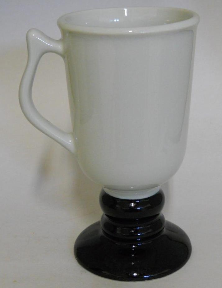 Hall 1272 ~ White & Black Pedestal Coffee Cup Mug ~ Made In U.S.A. image 6