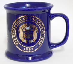 The Great Seal Of Utah ~ National Guard Utah Centennial ~ Cobalt Blue Cup Mug image 3