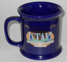 The Great Seal Of Utah ~ National Guard Utah Centennial ~ Cobalt Blue Cup Mug image 6