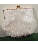 Walbaeg Beaded Purse White 6 inches Wide - $8.99