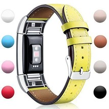 Hotodeal Fitbit Charge 2 Replacement Bands Classic Genuine Leather Wrist... - $22.40