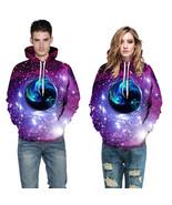3D Sweatshirts Print Black Hole Stars Space Galaxy Hooded Hoodies Pullovers - $42.00