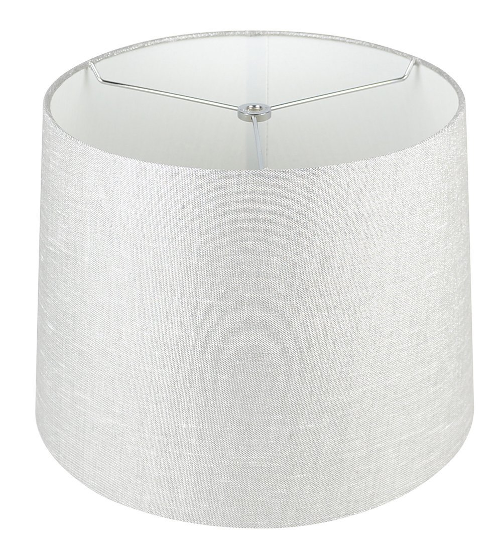 Urbanest French Drum Metallic Fabric Lamp Shade, Metallic Taupe, 10-inch by 12-i