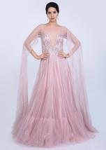 Beautiful Pink Net Gown6033 - $1,169.00