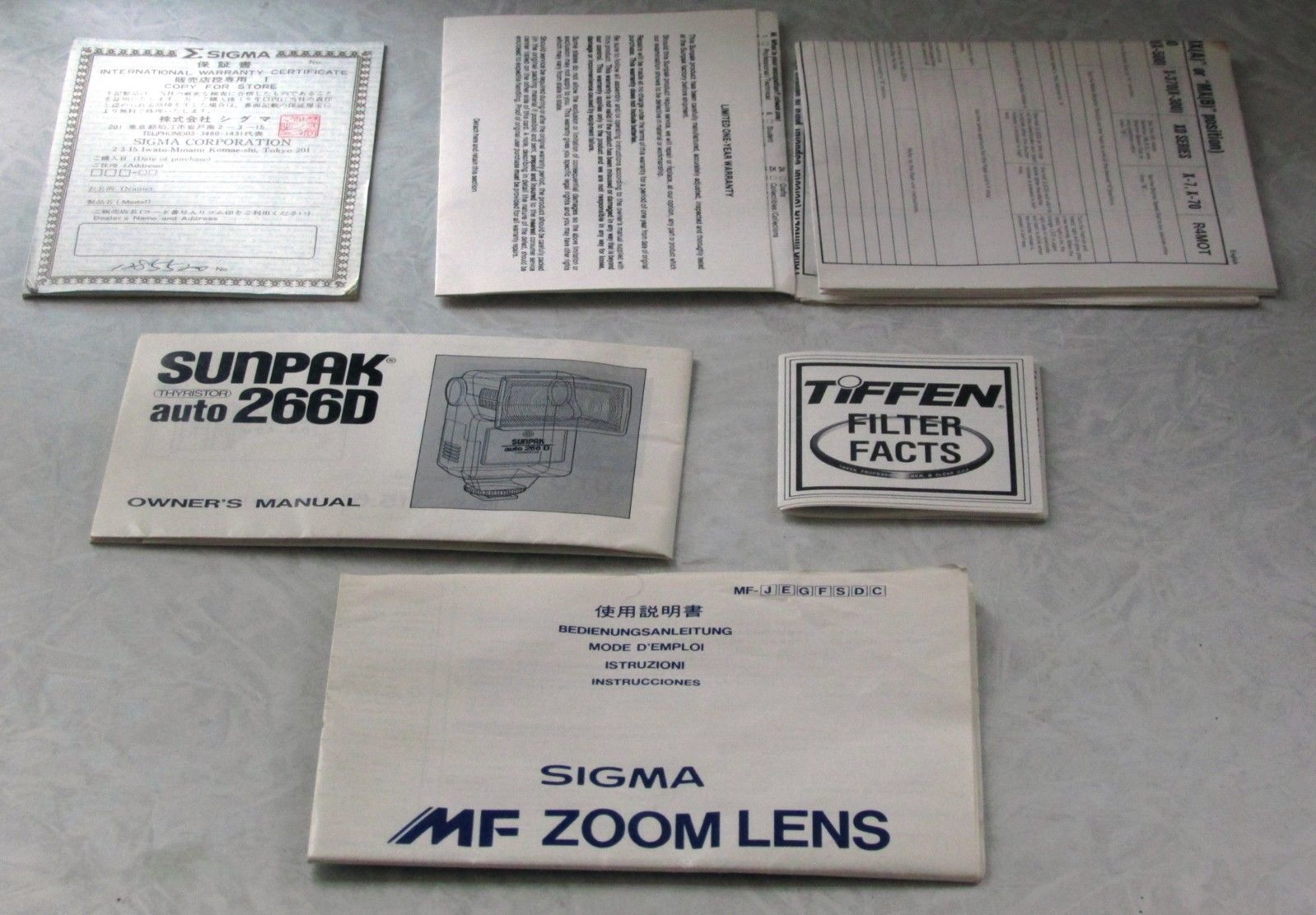 Minolta X-7 35mm Film Camera Sunpak 266D Flash Sigma UC Zoom 70-210mm Lens