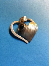 Vintage 925 silver pendant 1950-60s Israel tigers eye stone double heart - $46.75