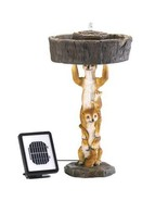 Playful MEERKAT Solar Fountain new and revised - $109.49