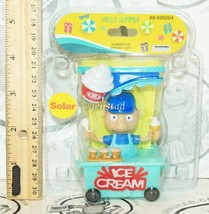 "SOLAR POWER - ICE CREAM MAN IN TRAIN CART DANCING TOY 4"" FIGURE NEW - $4.88"