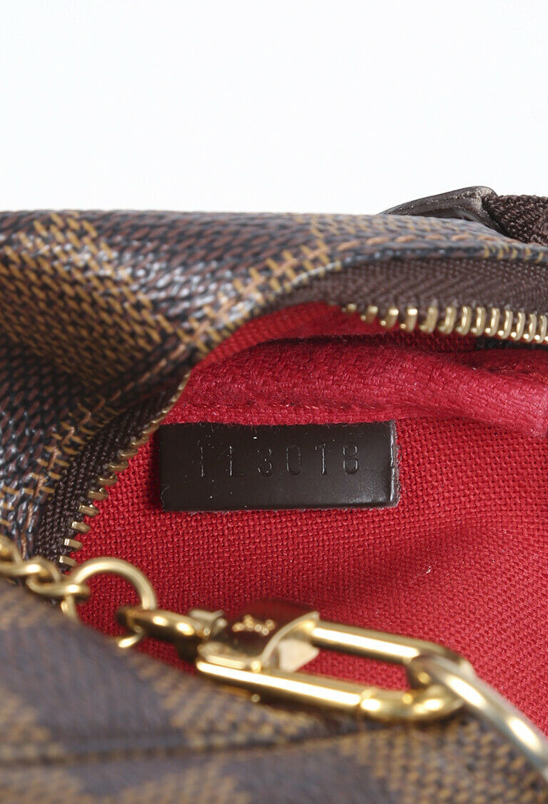 Louis Vuitton Mini Pochette Accessories Damier Ebene Bag image 4