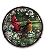 Spring Cardinals Brand New Backlit Lighted Clock Garage Office Collectible - $129.95