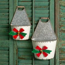 Hanging new Metal Caddies with Bows -SALE - $42.00