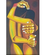 WOW! Eduardo Kingman LOVERS Contemporary CUBIST Art Painting ECUADOR by ... - $627.61