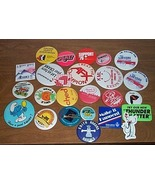 Advertising Buttons 25 Smurf  etc. - $20.00