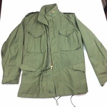Vintage 1980 Army Military M-65 Cold Weather Field Jacket Coat Green Small - $261.74