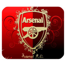 Mouse Pad Arsenal FC Logo Football Club Elegant Flowers Red Design Sports Game - $6.00