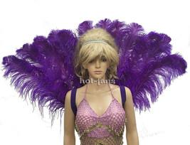 violet foncé plumes d'AUTRUCHE Paon Sac à dos partie arrière Majestueux ... - €104,52 EUR