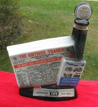 Vintage 1968 Jim Beam Bottle: Antique Trader's Kewanee Illinois Newspaper - $29.65