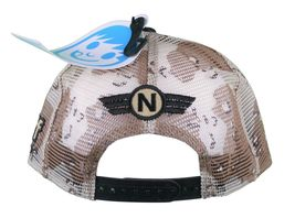 Neff Men's Desert Storm Camo Thunderbolt Mesh Snapback Baseball Hat Cap NWT image 4
