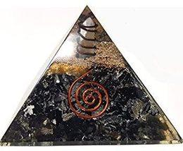 Piezo Electric Orgonite Pyramid with Bionized Black Tourmaline Crystals - $39.00