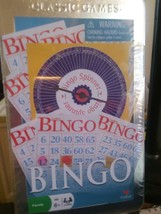Cardinal Classic Games Bingo 1997 SEALED Tin includes cards spinner & ma... - $10.39