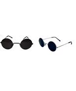 KIDS John Lennon Sunglasses Round  Shades Black or Silver Frame Smoked L... - $6.99