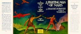 Edgar Rice Burroughs - facsimile dust jacket   FIGHTING MAN OF MARS 1st ... - $21.56