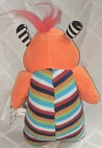 GANZ H12596 Orange One Eyed  KnitWit Monster Multi Colored 10 Inch 3 Plus age image 5