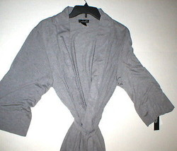 NWT $180 New Natori Gray Robe Womens Long Very Soft Solid XXL Pockets Heathered image 2