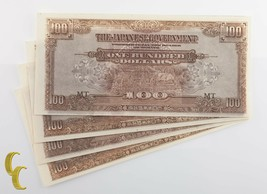 1944 Malaya WWII Japan Occupation 4 pc Notes (UNC) Uncirculated Condition - $44.61