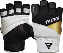 RDX Weight Lifting Gloves Fitness Workout Powerlifting Exercise Cowhide ... - $40.59