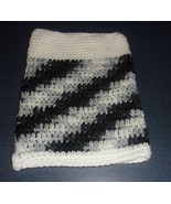 Brand New Crocheted Black White Dog Snood Neck Warmer 4 Dog Rescue Charity - $12.74