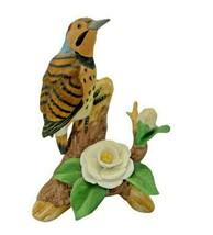 Vintage Yellow Hummer 7040 Bird Figurine Andrea by Sadek Porcelain Bird  - £26.97 GBP