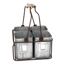 Tin Storage Organizer with Movable Wooden Handle - $64.99+