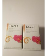 Tazo passion herbal tea 20 count box filterbags lot of 2 new in package - $16.95