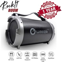 """Woozik S12B Wireless Speaker, Bluetooth Boombox with Built-In 4"""" Subwoof... - $32.39"""