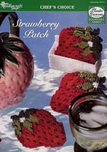 Strawberry Patch Coasters TNS Plastic Canvas Pattern Leaflet NEW - $2.67