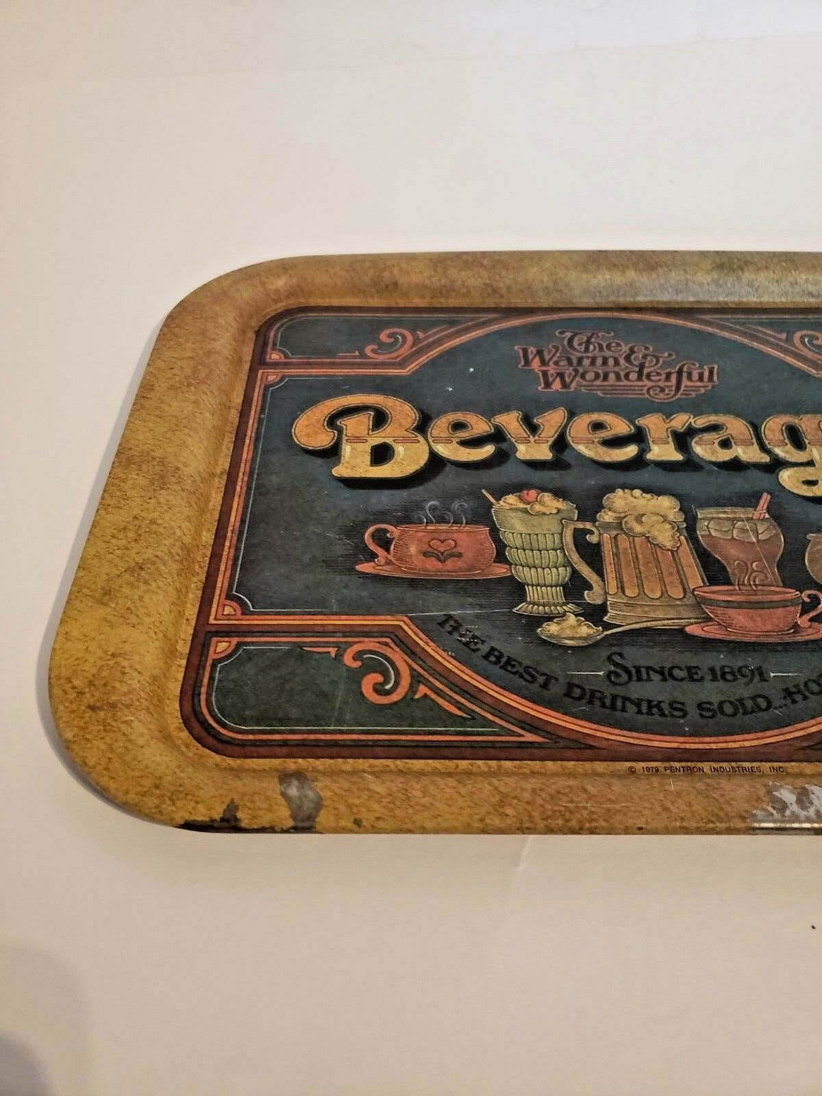 Vintage Beverage Tray The Warm & Wonderful