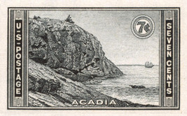 1935 7c Acadia Park, Imperforate Stamp issued without gum Scott 762 Mint... - $2.66