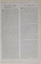 1900 PRINT NAVY & ARMY EDITORIAL NEWS ARTICLE GALLANT DEAD WHITE FLAG - $64.39