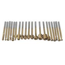 20Pcs Rotary File Cutters HSS Mini Burr Wood Working Milling Carving Ras... - $6.86