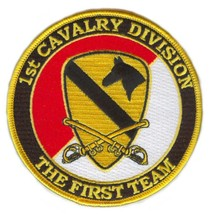 United States Army 1st Cavalry Division Patch with Sabres - $10.88