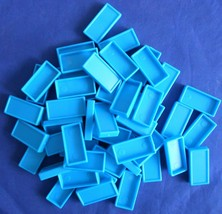 Pressman Domino Rally Replacement Extra Pieces Parts Tiles Turquoise 50 - $7.99