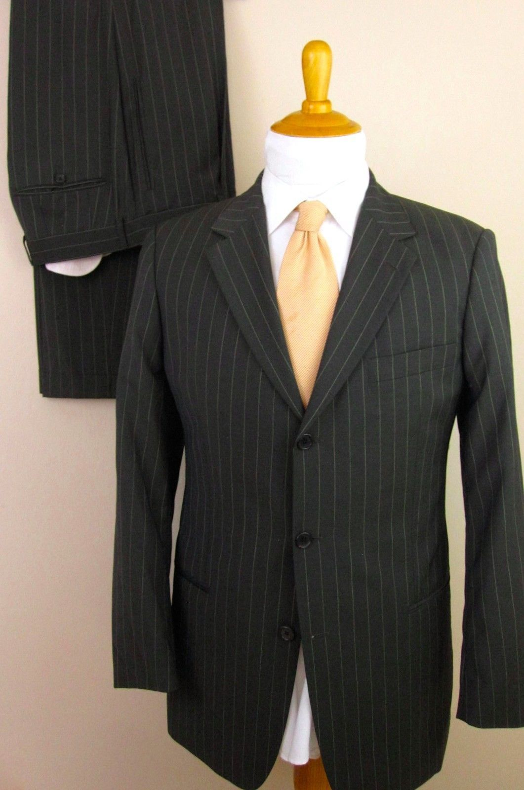 4856537c2 Hugo Boss Suit 36R Gray Pinstripe 3 Buttons and 49 similar items. S l1600
