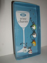 5 Boston Warehouse Wine Charms - (Missing one owl Charm) - $9.95