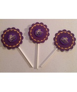 Ncaa Lsu Tigers Cupcake Toppers Party Decoration Birthday Handmade New - $12.00